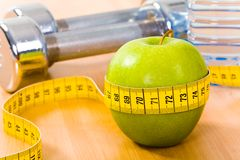 Apple diet Royalty Free Stock Images