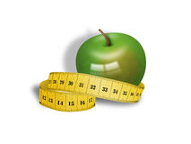 Apple and diet. Illustration of a delicious and healthy apple Royalty Free Stock Photos