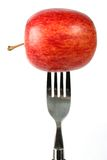 Apple diet - fork Royalty Free Stock Image