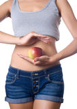 Apple diet Royalty Free Stock Image
