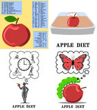 Apple diet set Royalty Free Stock Photography