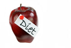 Apple with Diet Tag Stock Photo