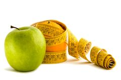 Apple and the dieting orange royalty free stock photo