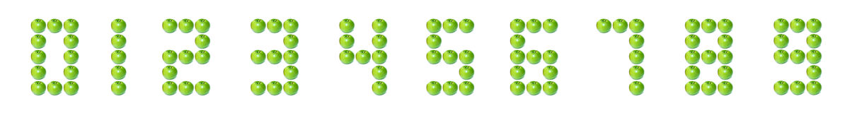 Apple digital number Stock Photos