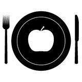 Apple for dinner Stock Images