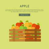 Apple dirigent la bannière de Web dans la conception plate de style Photographie stock