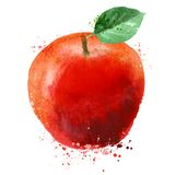 Apple dirigent le calibre de conception de logo fruit ou nourriture illustration libre de droits