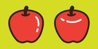 Apple dirigent le griffonnage d'illustration de bande dessinée de caractère de fruit d'icône de logo Illustration de Vecteur