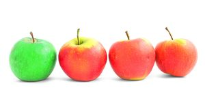Apple diversity Royalty Free Stock Image