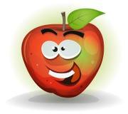 Apple divertido da fruto carácter Fotos de archivo