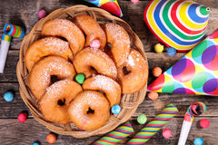 Apple donut Stock Image