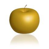 Apple dorato - oro Apple Fotografie Stock Libere da Diritti
