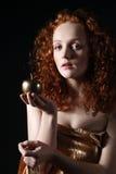 Apple dourado foto de stock royalty free
