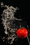 Apple doused with water Stock Images