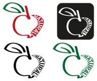 Apple drawing natural Royalty Free Stock Photos