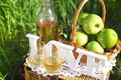 Apple drink outdoors Stock Photos