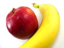 Apple e banana Fotografia de Stock Royalty Free