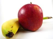 Apple e banana Fotos de Stock Royalty Free