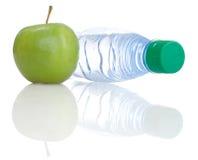 Apple e bottiglia Immagine Stock