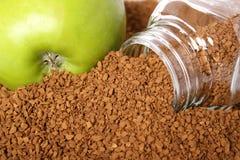 Apple e café Fotos de Stock
