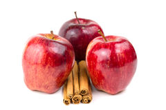 Apple e canela Fotografia de Stock