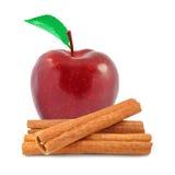 Apple e canela Fotografia de Stock Royalty Free