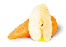 Apple e carota delle fette Fotografia Stock Libera da Diritti