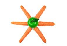 Apple e carote freschi Fotografie Stock