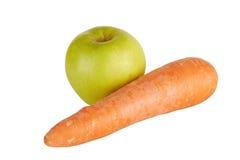 Apple e cenoura Fotografia de Stock Royalty Free