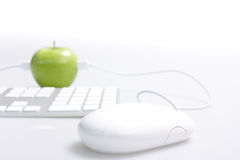 Apple e computador foto de stock royalty free