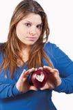 Apple e coração Imagens de Stock