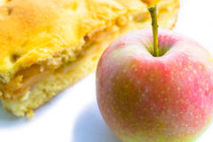 Apple e grafico a torta di mela Fotografia Stock Libera da Diritti