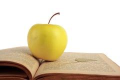 Apple e livro velho imagem de stock