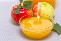 Apple e miele Fotografia Stock Libera da Diritti