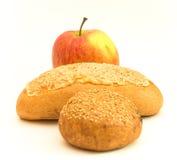 Apple e pão Foto de Stock Royalty Free