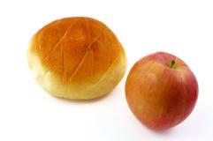 Apple e pão Fotos de Stock