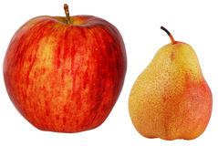 Apple e pera Imagem de Stock Royalty Free