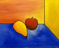 Apple e pera ilustração royalty free