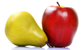 Apple e pera Immagini Stock Libere da Diritti