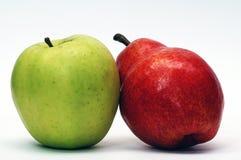 Apple e pera Fotografia Stock Libera da Diritti