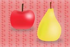Apple e pera ilustração stock