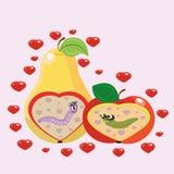 Apple e pera e sem-fins. ilustração royalty free
