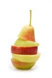 Apple e pere Fotografia Stock