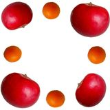 Apple e rapsodia arancio Fotografia Stock Libera da Diritti
