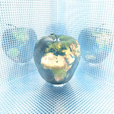 Apple with earth texture Stock Image
