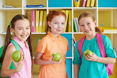 Apple eaters Royalty Free Stock Photos