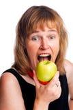 apple eating Στοκ Εικόνες