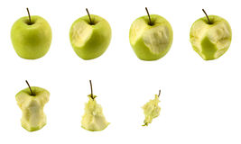 Apple eating set Stock Photos