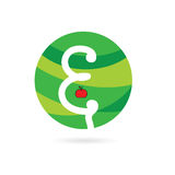 Apple eco color vector. Illustration Royalty Free Stock Photos