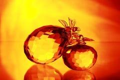 Apple ed ananas Fotografia Stock Libera da Diritti